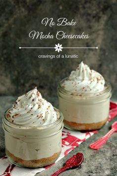 No Bake Mocha Cheesecake with Animal Cracker Crust – Cravings of a Lunatic Mini Desserts, Easy Desserts, Delicious Desserts, Dessert Recipes, Yummy Food, Mocha Cheesecake, Cheesecake Recipes, Chocolate Cheesecake, Yummy Recipes