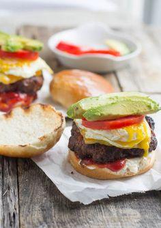 Brazilian Burger with Chorizo and Egg.