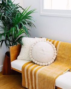Yellow throw | Hesby ✌ (@shophesby) boho modern home decor + lifestyle