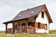 Dom drewniany LIBEREC I - Filian Domy Drewniane House In The Woods, My House, Micro Apartment, Small Cottages, Tiny House Plans, Home Fashion, Bungalow, Gazebo, Outdoor Structures