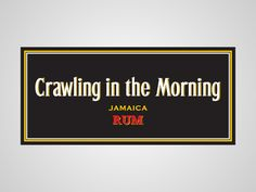 Crawling in the Morning aka Captain Morgan. Honest Logos by Viktor Hertz #Logos