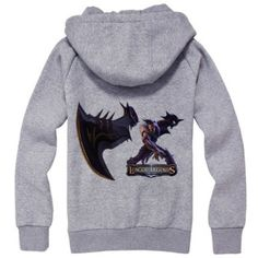 Game League of Legends sweatshirt for men long sleeve Draven zip up hoodie