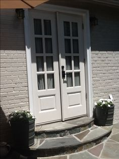 Side patio french doors