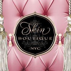 Skin Boutique New York City Feminine Beauty Salon Spa Logo Design Beauty Salon Names, Beauty Salon Logo, Beauty Salon Design, Hair And Beauty Salon, Schönheitssalon Logo, Spa Logo, Logo Branding, Spa Brochure, Project Life
