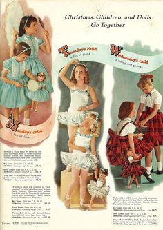 1958_SearsChristmas_Page002: Vintage Kids Clothes, Vintage Girls Dresses, Vintage Children, Vintage Outfits, 1950s Fashion, Kids Fashion, Vintage Fashion, Beau Film, Monday's Child