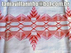 Discover thousands of images about Resultado de imagem para vagonite passo a passo Swedish Embroidery, Hand Embroidery, Cross Stitch Designs, Cross Stitch Patterns, Cross Stitches, Loom Patterns, Swedish Weaving Patterns, Chicken Scratch Embroidery, Monks Cloth