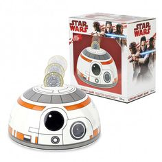 Tirelire Tête BB-8 Star Wars Céramique Cadeau Star Wars, Star Wars Bb8, Money Box, Geek Stuff, Stars, 3d, Geek Things, Money Bank, Sterne