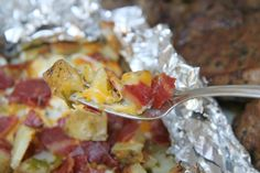 #Walmart Mom Amy presents a delicious Three Cheese Grilled Potatoes recipe.