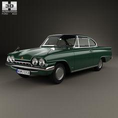Ford Consul Capri 1961 3d model from humster3d.com