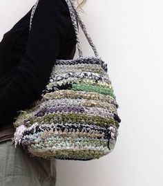 Handmade+duurzame+dames+tas+van+repen+gerecyclede+stof+en