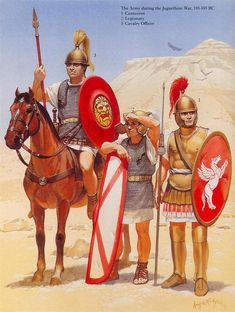 Roman Legionaries in the Jugurthine War, 110-105 BCE. Art by Angus McBride