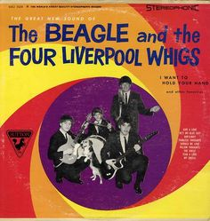 vintagemarlene:    the beagle and the four liverpool whigs, 1960s. yes, it's real.