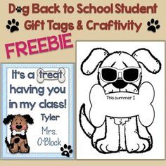 This freebie contains cute and colorful dog student gift tags to easily create a memorable back to school, open house, or Meet the Teacher treat for your students as well as a creative and fun craftivity for an adorable dog-themed classroom display.You receive 3 different dog student gift tags, one of which is editable so you may add student names and/or your name prior to printing or you can print the blank templates and hand write names.