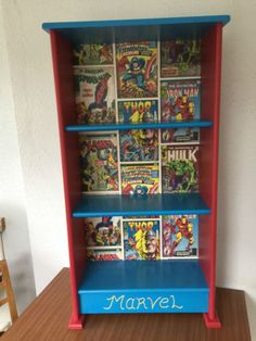 Bookcase-for-Childrens-Bedroom-Marvel-Avengers-Theme