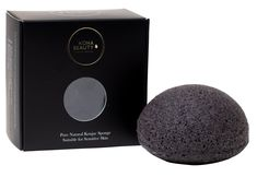 KOHA Beauty Bamboo Charcoal Konjac Sponge Acne Prone Skin, Oily Skin, Sensitive Skin, Tighten Pores, Lotion, Charcoal, Bamboo, Range, Pure Products