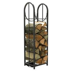 Open Hearth Collection Black Vertical Log Holder from Blain's Farm and Fleet