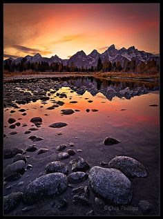 Evening, Snake River, Grand Teton National Park, Wyoming.  Photo: Chip Phillips via via Flickr.