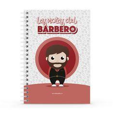 Cuaderno XL - Las notas del barbero, encuentra este producto en nuestra tienda online y personalízalo con un nombre. Notebook, Barbers, Notebooks, Report Cards, Store, The Notebook, Exercise Book
