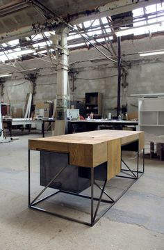 Desk Y03 by Hristo Stankushev, via Behance. Not modular or flatpack but an excellent combination of materials.