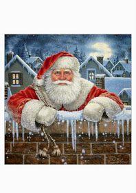 los gráficos del gato: PAPA NOEL MURO Christmas Stockings, Stitch, Painting, Art, Santa Cross Stitch, Punto De Cruz, Walls, Bonito, Xmas