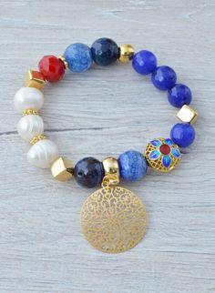 DSC_1036 Diy Beaded Bracelets, Crystal Bracelets, Handmade Bracelets, Jewelry Bracelets, Jewelery, Beaded Jewelry Designs, Diy Jewelry, Handmade Jewelry, Jewelry Making