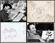 Ward Kimball – after joining Disney in 1934, Ward would find his niche specializing in wacky and exaggerated characters, such as the incredibly mysterious and mischievous Cheshire Cat, the crazy Mad Hatter, and ever-confusing Tweedledee and Tweedledum in Alice in Wonderland.