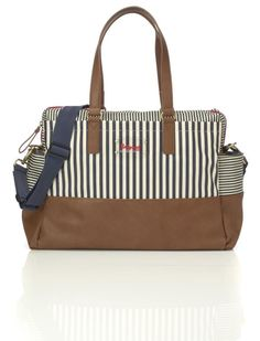 328e4f7a9cffed Babymel Millie Diaper Bag– Navy Stripe, Navy Luxury Diaper Bag, Best Diaper  Bag