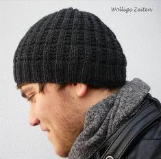 Ravelry: Junge Männer Mütze pattern by Lydia Fischer garter rib woven look knot hat for guys/ boys