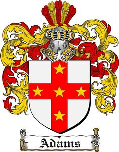adams coat of arms / family crest #heraldry #family #crest #shield #crests…