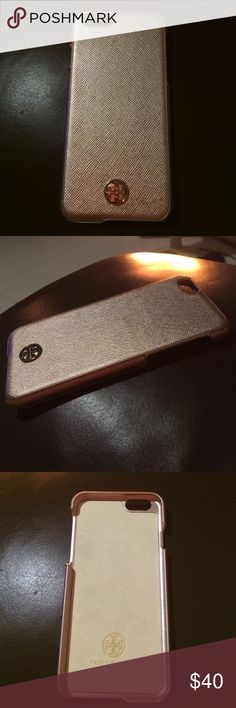 New Tory Burch iPhone 6/6S case Rose Gold color Brand new Tory Burch iPhone case for iPhone 6 or 6S. A textured hard-shell case accented with a polished Tory Burch medallion keeps your iPhone chic and scratch-free. No scratch on the logo (see last photo). This lovely rose gold color is popular and won't last long! Actual size is approx. 5.5x3x0.5. Sorry, no original box as it was damaged when we moved. Thank you. Tory Burch Accessories Phone Cases