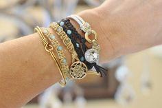 Woven Beaded Bracelet DIY (10)