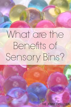What are the Benefits of Sensory Bins? on The Jenny Evolution