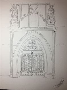 Wittenberg door of all saints sketch - Jordan Beakley & All Saintsu0027 Church Wittenberg Germany; where Martin Luther nailed ...