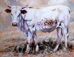 White Nguni Bull in oils - Terry Kobus Cow Pictures, Cow Pics, Jersey Cattle, Cow Art, Rind, White Art, Fabric Painting, Livestock, African Art