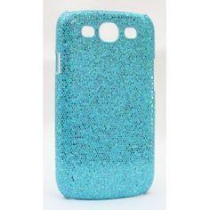 Galaxy S3 sinisen värinen glitter suojakuori. Samsung Galaxy S3, Glitter, Phone Cases, Sequins, Glow, Phone Case
