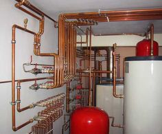 Медная труба в отопительной системе Mechanical Room, Mechanical Design, Electrical Installation, Electrical Wiring, Home Heating Systems, Refrigeration And Air Conditioning, Hydronic Heating, Infrared Heater, Earth Homes