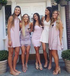 These sorority rush dresses are perfect for sorority recruitment! College Formal Dresses, Sorority Formal Dress, Sorority Dresses, Semi Formal Dresses, Hoco Dresses, Homecoming Dresses, Sexy Dresses, Girls Dresses, Rush Dresses