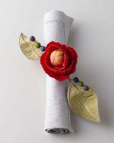 MacKenzie-Childs 'Red Poppy Napkin Ring' | Neiman Marcus