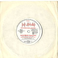 "For Sale -Def Leppard Love Bites UK Promo  7"" vinyl single (7 inch record)- See this and 250,000 other rare and vintage records & CDs at http://eil.com/"