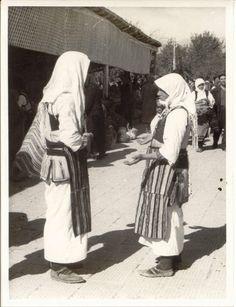 Ohrid market [c1950] (Macedonia) Folk Costume, Costumes, Extraordinary People, Bulgarian, Macedonia, World Cultures, Old Photos, Folk Art, Roots