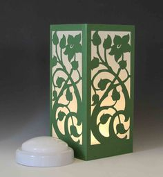 Cherry Blossom Laser cut Luminary Table Lamp Centerpiece - by StarrDesign on Etsy