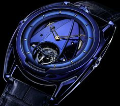 """De Bethune DB28 & DB28T Tourbillon 'Kind Of Blue' Watches - by  Bilal Khan - """"De Bethune has always been preoccupied with a vaguely spacey, celestially inspired aesthetic, so it's no surprise that their latest DB28 watches pay tribute to that most cosmic color, blue. The De Bethune DB28 Kind of Blue and DB28T Kind of Blue are the latest additions to the line, citing the color's association with infinity and harmony as well as """"plenitude"""" - the concept of being within and beyond itself..."""""""