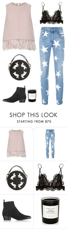 """""""Stars"""" by bareluxe ❤ liked on Polyvore featuring The 2nd Skin Co., STELLA McCARTNEY, Round Rabbit, Isabel Marant, Yves Saint Laurent and Byredo"""