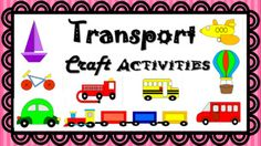 Use this resource in class for Transport unitIncludes cutting pasting activity for Car, School bus, Van, Hot air balloon, Boat, Bike, Fire Truck, Plane, train.Can be used in combination with Maths unit teaching different shapes.Also included a black and white master line to colour in.