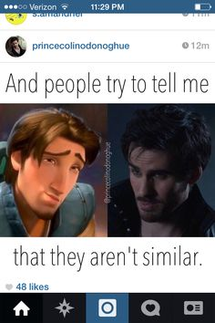 Flynn Rider and Captain Hook, Killian Jones. Once Upon A Time. #OUAT HA! Ashley, it's Flynn AND Hook! My dream!