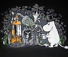 National drink of Finland even the moomins are doing it How To Make Moonshine, Making Moonshine, Moomin Valley, Box Art, Best Funny Pictures, Finland, Snoopy, Manga, Cute