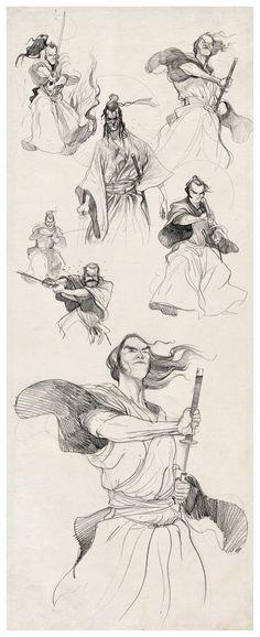 http://www.diburros.com.br/wp-content/uploads/2012/06/samurais-sketches-braga-diburros.jpg
