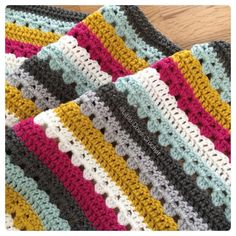 """1,330 Likes, 12 Comments - Faye (@littledovecrochet) on Instagram: """"This one is coming along, just a little baby blanket and I love how quick Attic24's cosy stripe is """""""