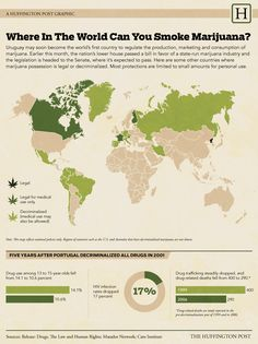 Where in the world can you smoke marijuana? (HuffPost)