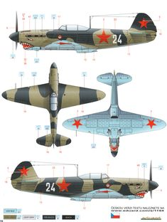 Here is the Yakovlev Yak-1 Early War Camouflage Color Profile.